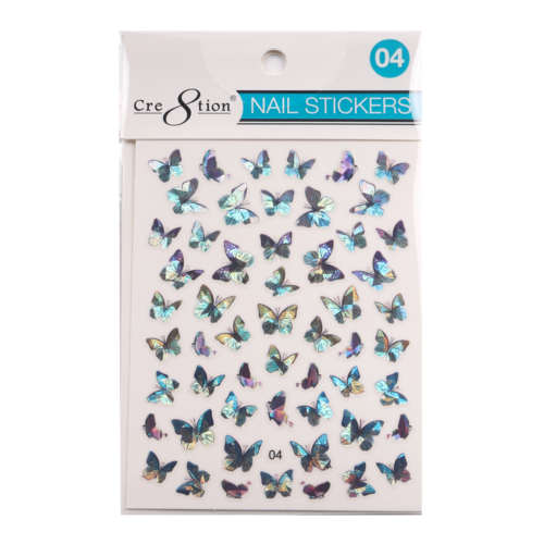 Cre8tion - Nail Art Design Sticker Butterfly #004