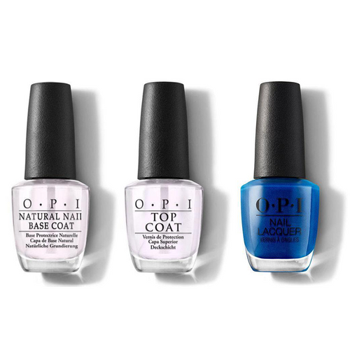 OPI - Nail Lacquer Combo - Base, Top & Do You Sea What I Sea? 0.5 oz - #NLF84