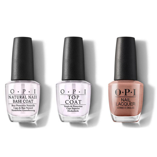 OPI - Nail Lacquer Combo - Base, Top & Made It To The Seventh Hills! 0.5 oz - #NLL15