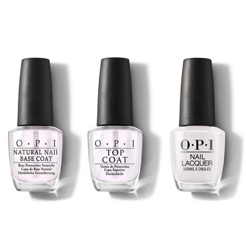OPI - Nail Lacquer Combo - Base, Top & Suzi Chases Portu-geese 0.5 oz - #NLL26