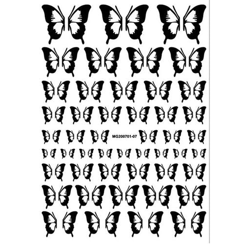 Cre8tion - Nail Art Design Sticker Butterfly #050