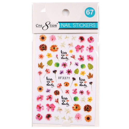 Cre8tion - Nail Art Design Sticker Flower #067