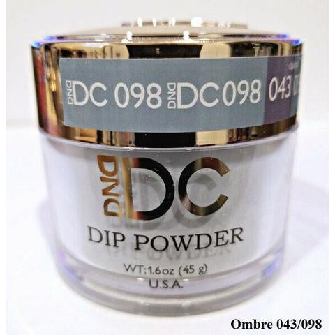 DND - DC Dip Powder - Aqua Gray 2 oz - #098
