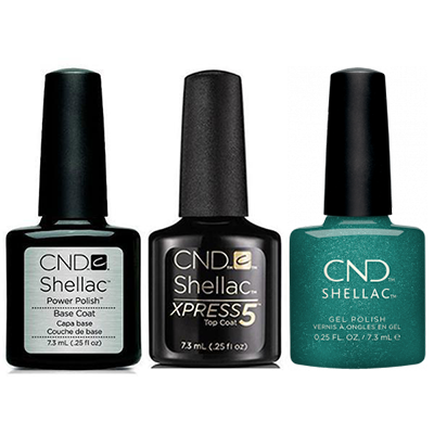 CND - Shellac Xpress5 Combo - Base, Top & She's A Gem! (0.25 oz)