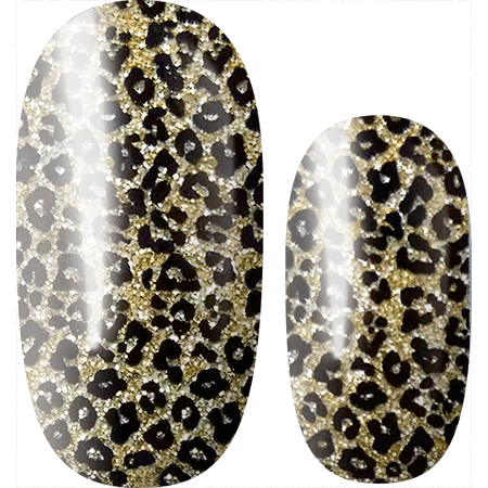 Lily and Fox - Nail Wrap - Cheetah Sparkle