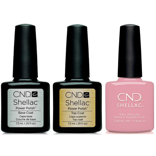 CND - Shellac Combo - Base, Top & Pacific Rose