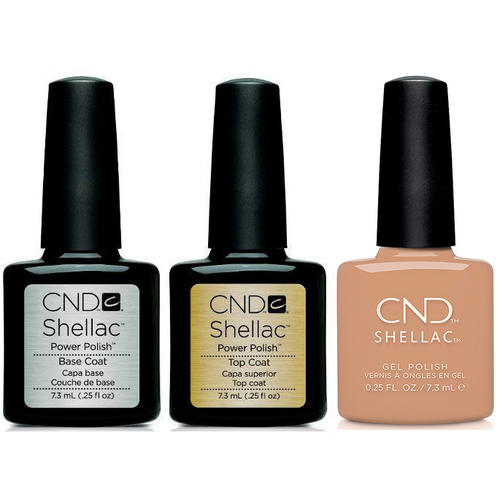 CND - Shellac Combo - Base, Top & Sweet Cider