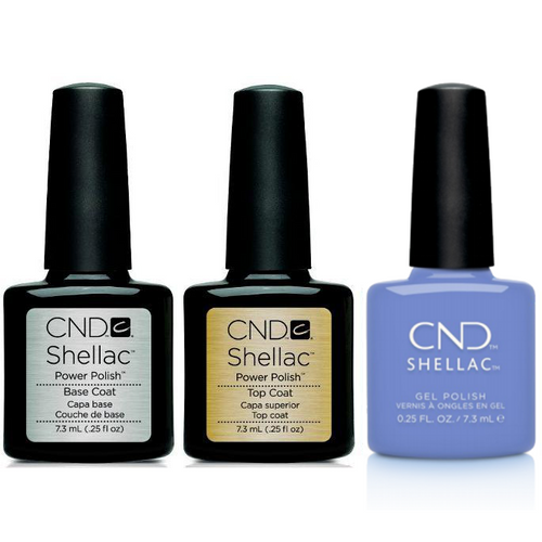 CND - Shellac Combo - Base, Top & Down By The Bae