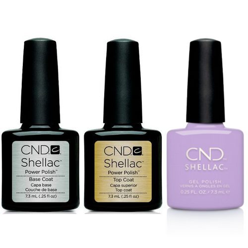 CND - Shellac Combo - Base, Top & Get Nauti