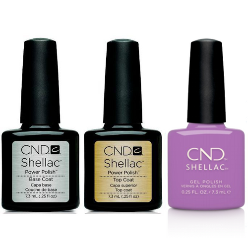 CND - Shellac Combo - Base, Top & It's Now Oar Never