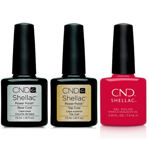 CND - Shellac Combo - Base, Top & Kiss The Skipper