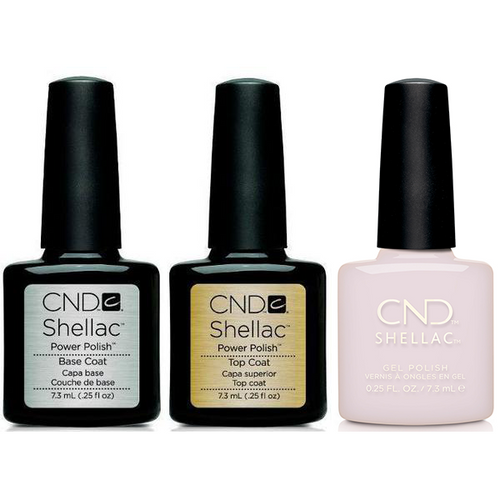 CND - Shellac Combo - Base, Top & Pointe Blanc