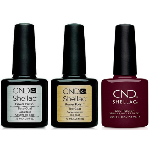CND - Shellac Combo - Base, Top & Spike