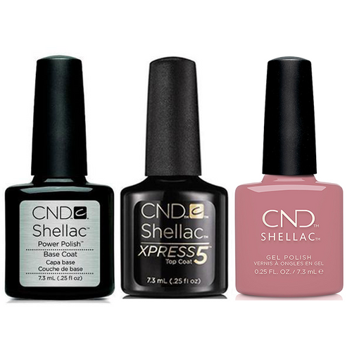 CND - Shellac Xpress5 Combo - Base, Top & Fuji Love (0.25 oz)