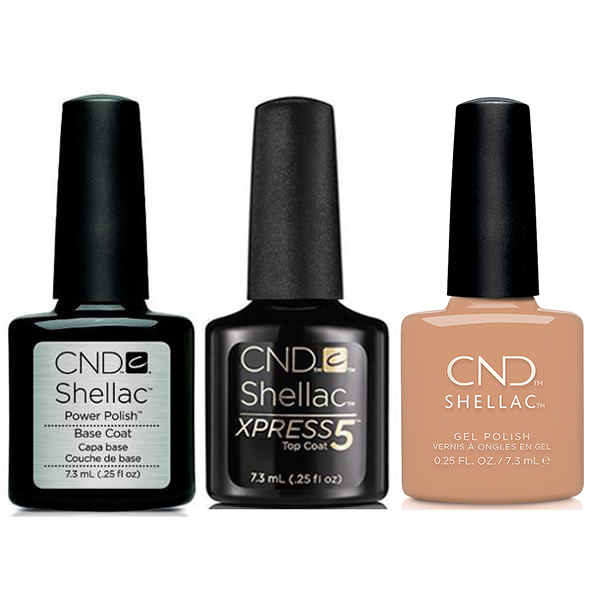 CND - Shellac Xpress5 Combo - Base, Top & Sweet Cider (0.25 oz)