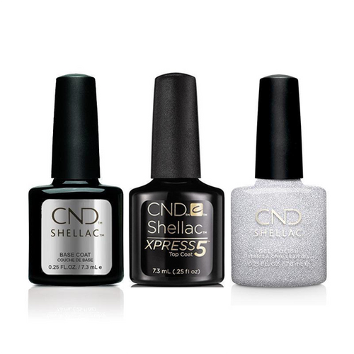 CND - Shellac Xpress5 Combo - Base, Top & After Hours (0.25 oz)