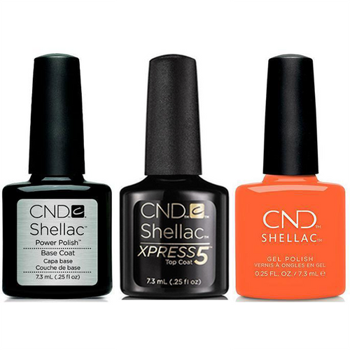 CND - Shellac Xpress5 Combo - Base, Top & B-Day Candle (0.25 oz)