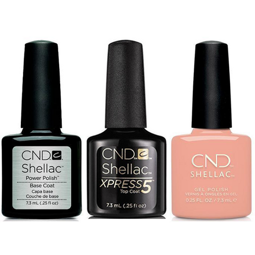 CND - Shellac Xpress5 Combo - Base, Top & Baby Smile (0.25 oz)