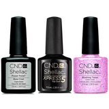CND - Shellac Xpress5 Combo - Base, Top & Blushing Topaz (0.25 oz)