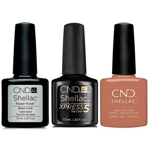 CND - Shellac Xpress5 Combo - Base, Top & Boheme (0.25 oz)