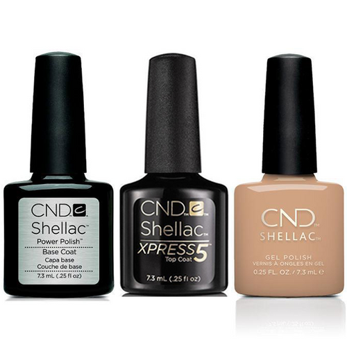 CND - Shellac Xpress5 Combo - Base, Top & Brimstone (0.25 oz)