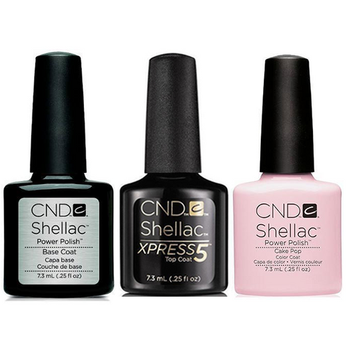 CND - Shellac Xpress5 Combo - Base, Top & Cake Pop (0.25 oz)