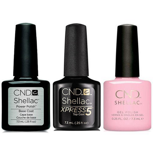 CND - Shellac Xpress5 Combo - Base, Top & Candied (0.25 oz)