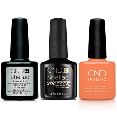 CND - Shellac Xpress5 Combo - Base, Top & Catch Of The Day (0.25 oz)