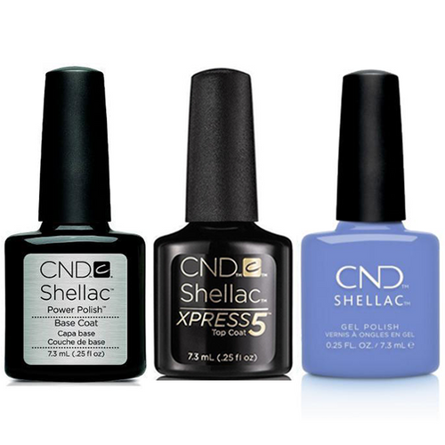 CND - Shellac Xpress5 Combo - Base, Top & Down By The Bae (0.25 oz)