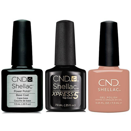 CND - Shellac Xpress5 Combo - Base, Top & Flowerbed Folly (0.25 oz)