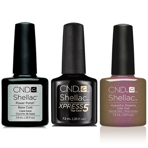 CND - Shellac Xpress5 Combo - Base, Top & Hypnotic Dreams (0.25 oz)