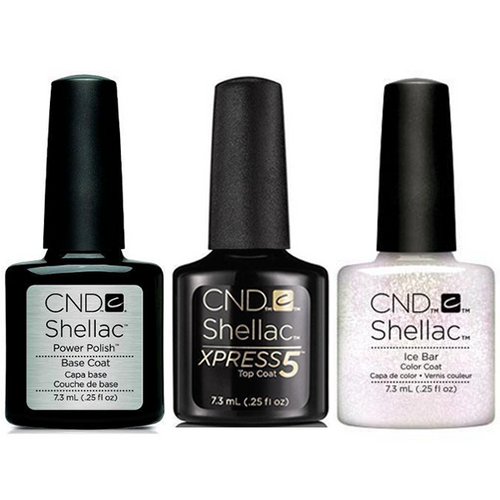CND - Shellac Xpress5 Combo - Base, Top & Ice Bar (0.25 oz)