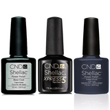 CND - Shellac Xpress5 Combo - Base, Top & Indigo Frock (0.25 oz)