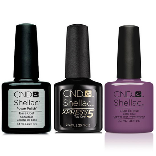 CND - Shellac Xpress5 Combo - Base, Top & Lilac Eclipse (0.25 oz)