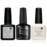 CND - Shellac Xpress5 Combo - Base, Top & Negligee (0.25 oz)