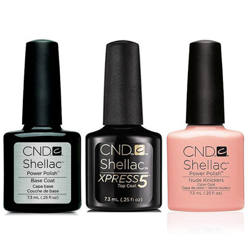 CND - Shellac Xpress5 Combo - Base, Top & Nude Knickers (0.25 oz)