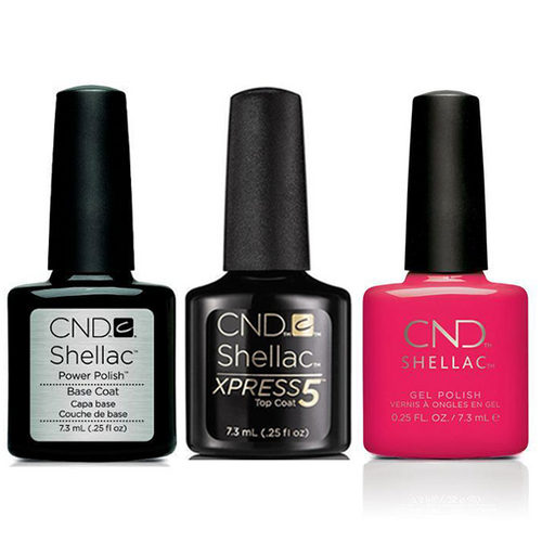 CND - Shellac Xpress5 Combo - Base, Top & Offbeat (0.25 oz)