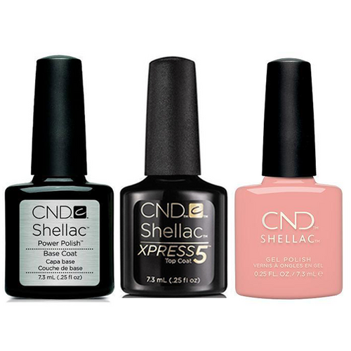 CND - Shellac Xpress5 Combo - Base, Top & Soft Peony (0.25 oz)