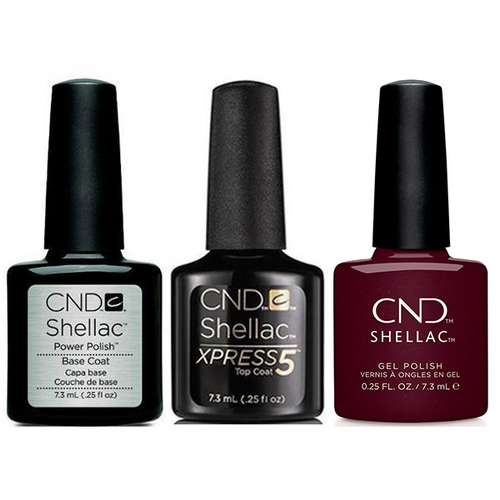 CND - Shellac Xpress5 Combo - Base, Top & Spike (0.25 oz)