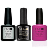 CND - Shellac Xpress5 Combo - Base, Top & Sultry Sunset (0.25 oz)