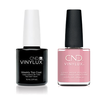 CND - Vinylux Topcoat & Pacific Rose 0.5 oz - #358