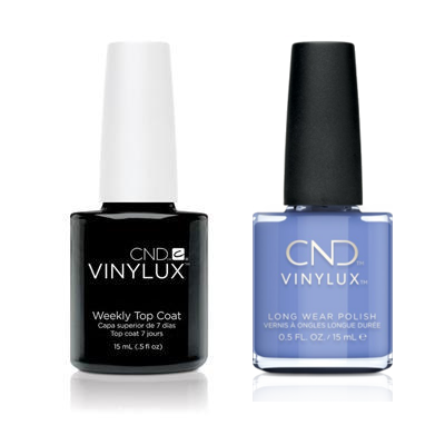 CND - Vinylux Topcoat & Down By The Bae 0.5 oz - #357