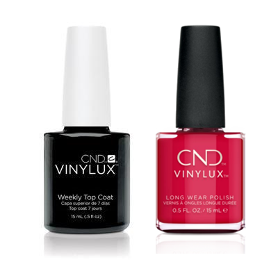 CND - Vinylux Topcoat & Kiss The Skipper 0.5 oz - #354