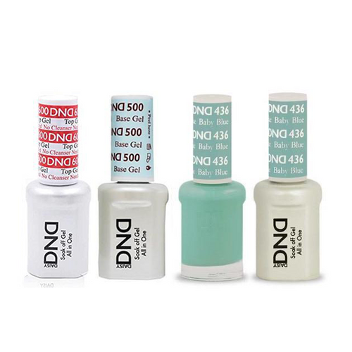 DND - #500#600 Base, Top, Gel & Lacquer Combo - Baby Blue - #436