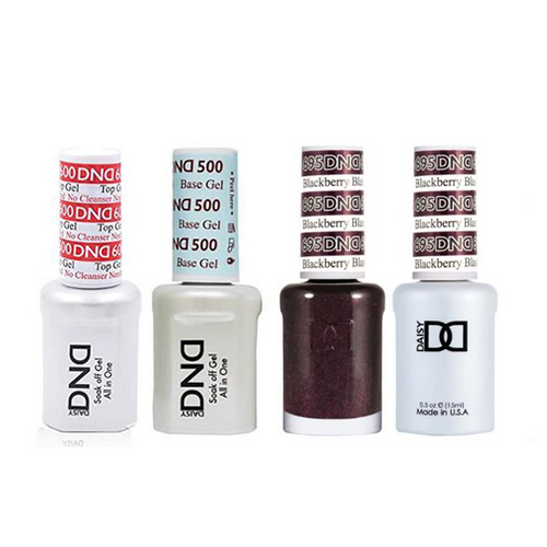 DND - #500#600 Base, Top, Gel & Lacquer Combo - Blackberry Blast - #695