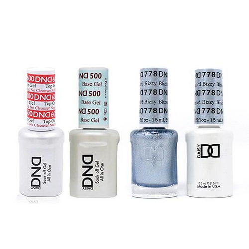 DND - #500#600 Base, Top, Gel & Lacquer Combo - Blizzy Blizzard - #778