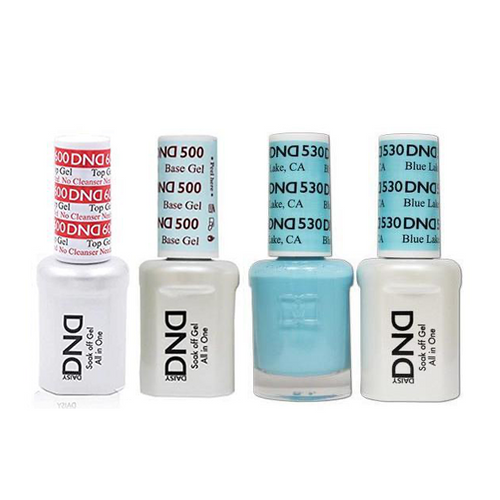 DND - #500#600 Base, Top, Gel & Lacquer Combo - Blue Lake CA - #530