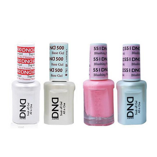 DND - #500#600 Base, Top, Gel & Lacquer Combo - Blushing Pink - #551