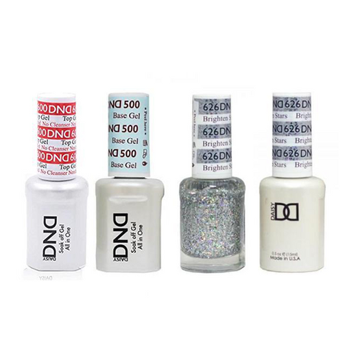 DND - #500#600 Base, Top, Gel & Lacquer Combo - Brighten Stars - #626