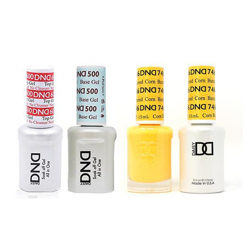 DND - #500#600 Base, Top, Gel & Lacquer Combo - Buttered Corn - #746